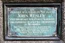 A plaque erected in Aldersgate Street, London, by the Drew Theological Seminary of the Methodist Episcopal Church in Madison, N. J., marks the probable site of John's Wesley's now famous moment of spiritual revelation. Photo courtesy of Wikimedia Commons.