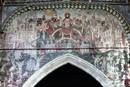 "A medieval painting of the ""Doom"" or Last Judgment in St. Thomas Church, Salisbury, England. Photo by Nessino, courtesy of Wikimedia Commons."