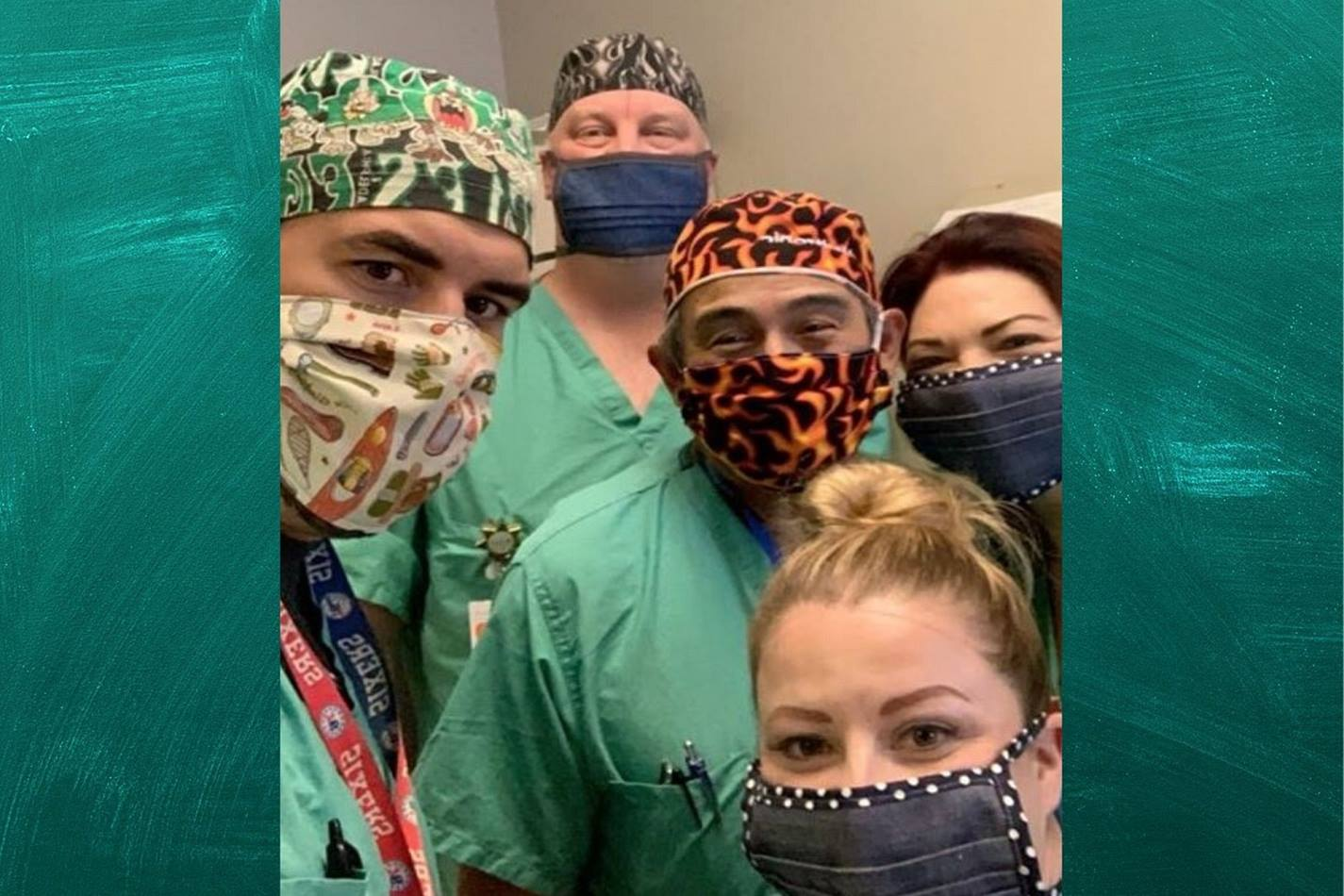 Nurses at San Antonio's Baptist Hospital has received masks from La Trinidad United Methodist Church's sewing group. Photo by Valerie Mendoza